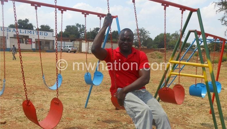 Msanyama showcases his recreation see-saw