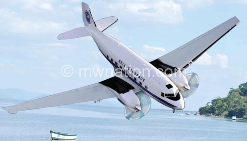 An aircraft conducting Full Tensor Gravity Gradiometry