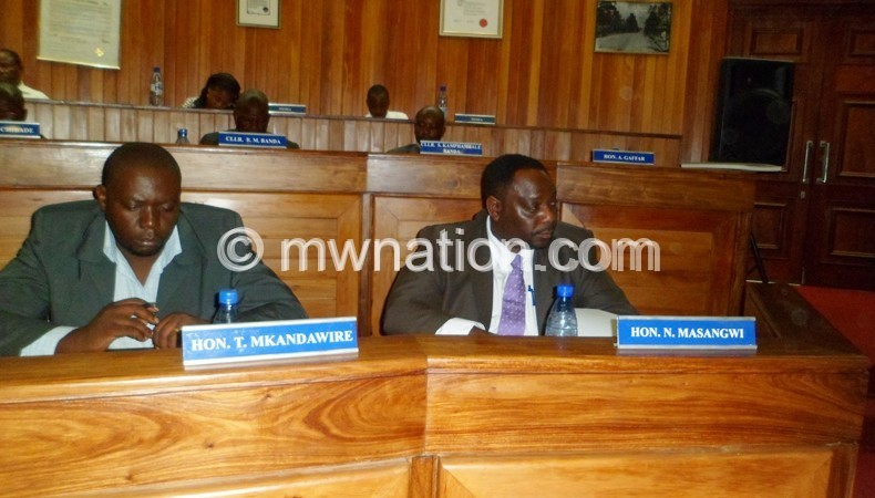 Some Blantyre City MPs attending a council meeting recently