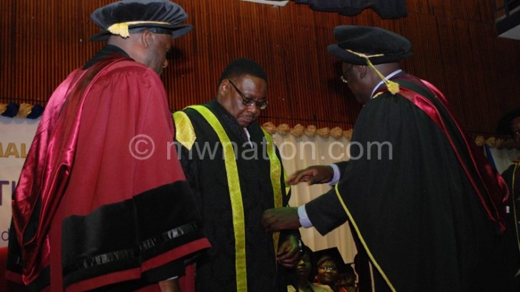 President Peter Mutharika installed Unima chancellor