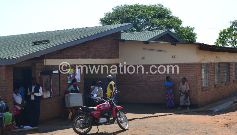 Affected by water shortages: Limbe Health Centre