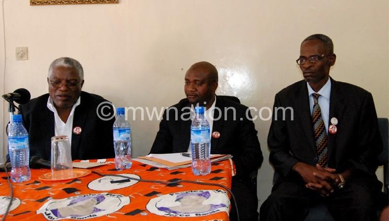 Mpinganjira, Matola and Msonda at the conference