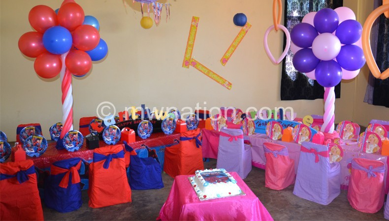The room tailored for chiledren's party