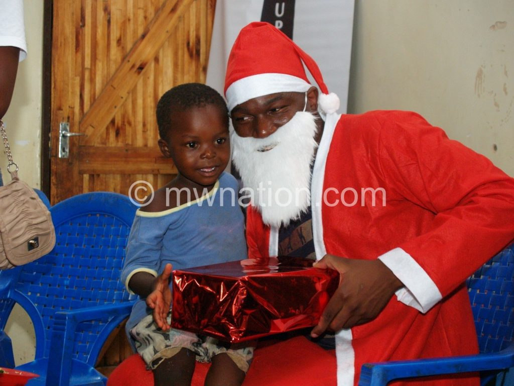 Blantyre Rotaracts Santa was on hand to dish out the goodies to kids