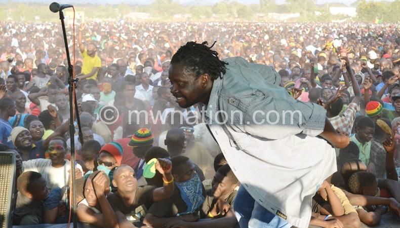 Konzi Matsembe performs