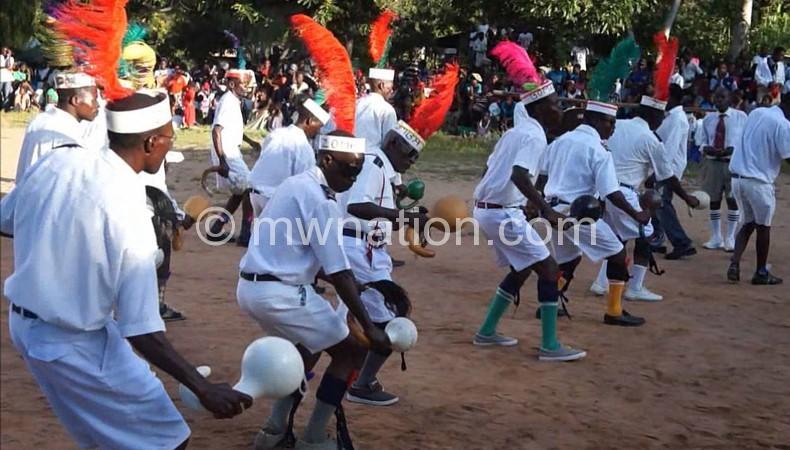 A malipenga exhibit during last year's Likoma Festival