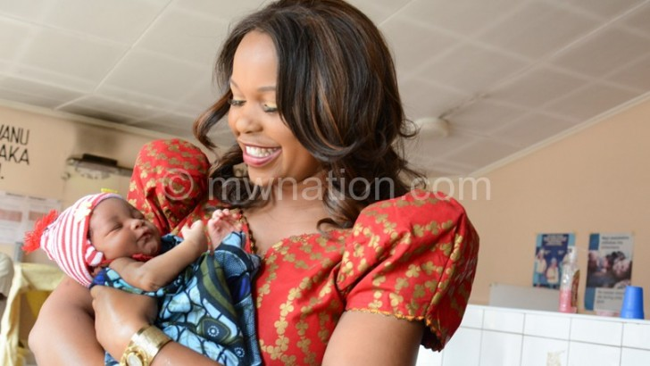 VP's wife cheers the sick, new moms at Bwaila Hospital
