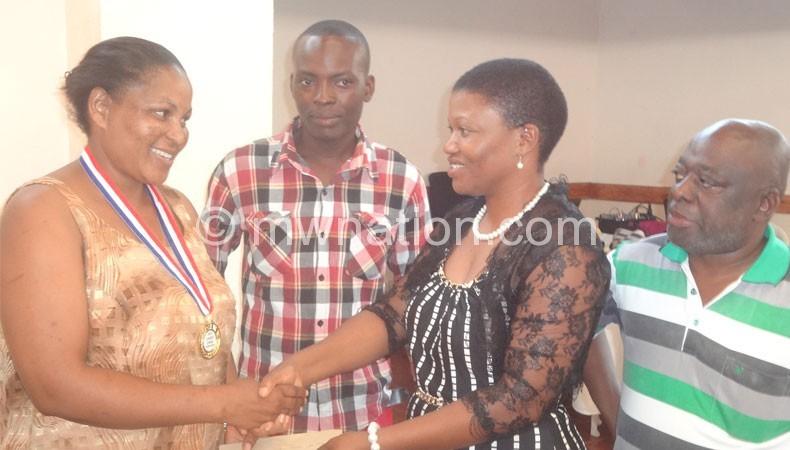 Namangale (2ndR) crowns Ngugama as Chalemba (R) and Jailosi look on