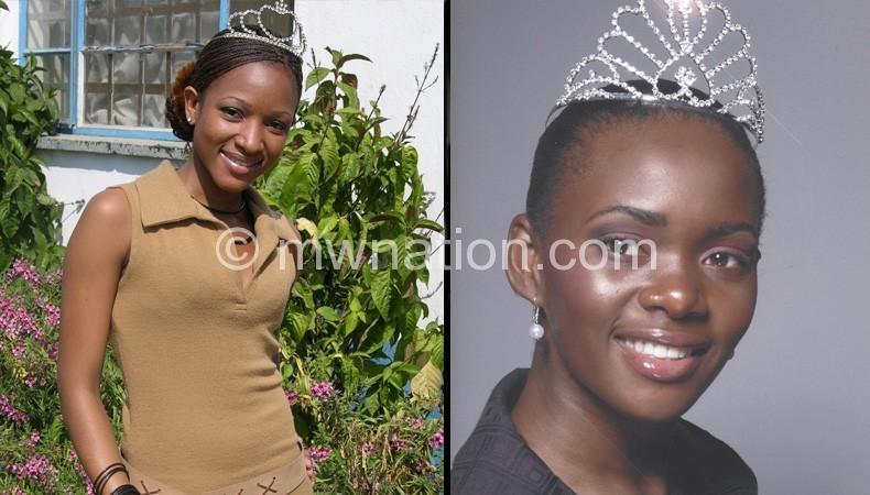 Former Miss Malawi Florence Zeka and Joyce Mphande
