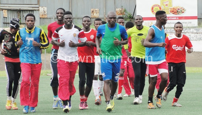 Bullets players caught training on Monday