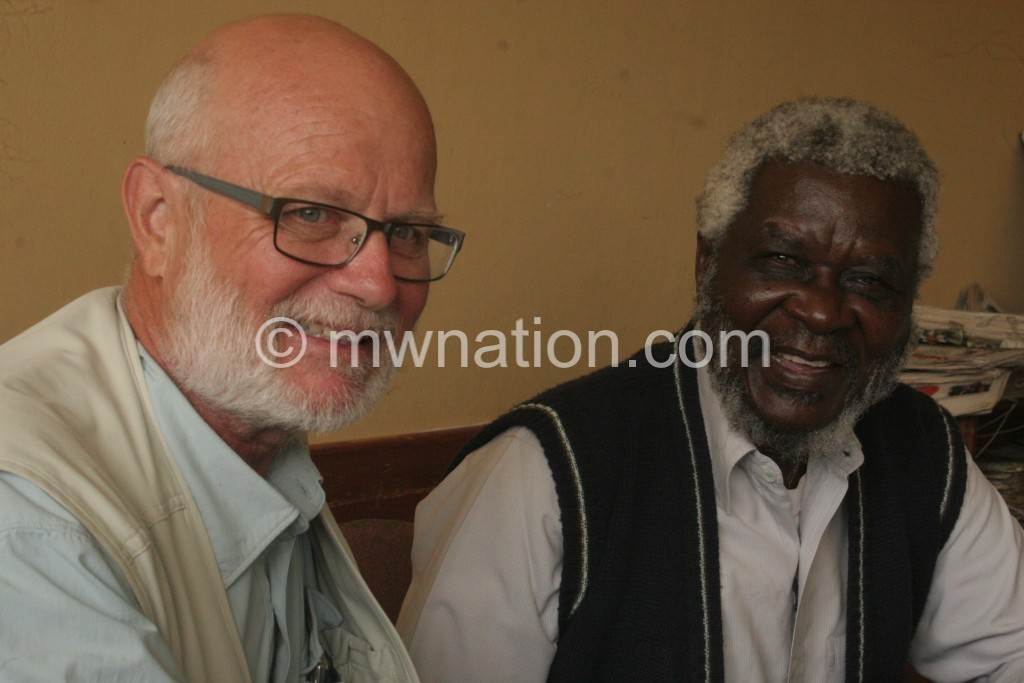 On a mission: Miller (L) with Mwakasungula