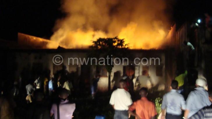 Fire guts shop in Zomba