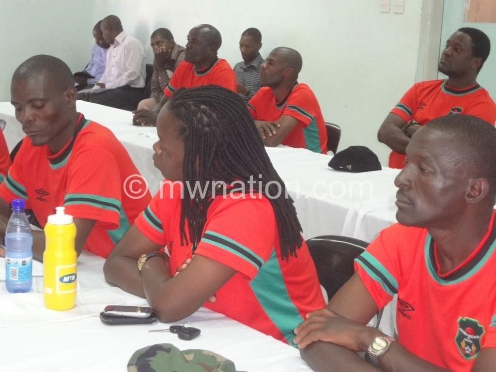 CAF A license course participants awaiting results in Blantyre on Thursday (7 May).