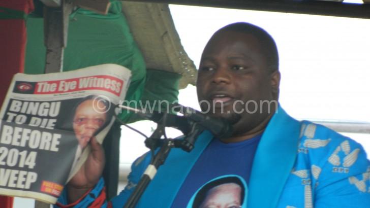 Malawi information minister claims Bingu was killed