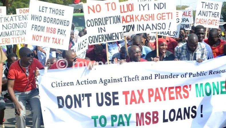 A previous demonstration organised by CSOs
