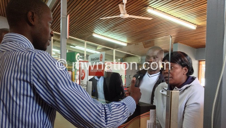 Customers enquiring about STBs at Mzuzu Post Office last year