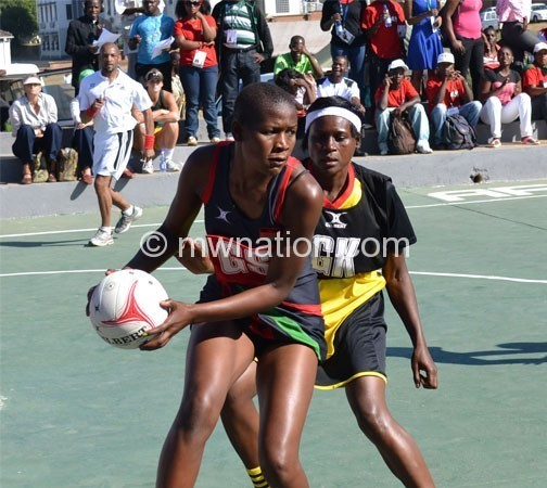 Mvula (front) had a 99-percent shooting accuracy last evening