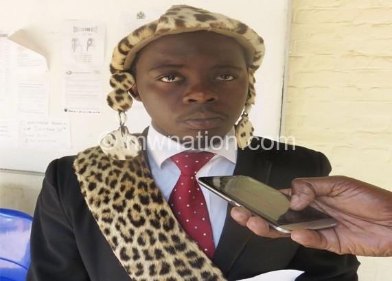Inkosi Gomani V urges women to deliver in hospitals BARTHOLOMEW KAWINA