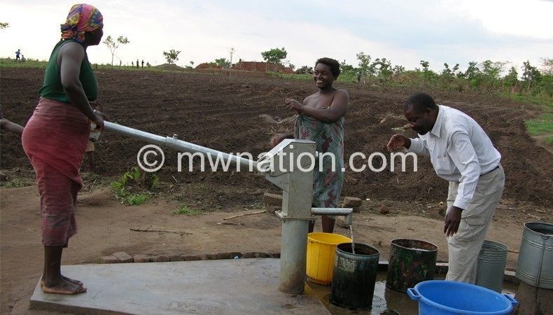 People want councillors to provide boreholes such as this one