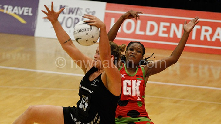 Malawi Queens in action against New Zealand at the 2015 World Cup