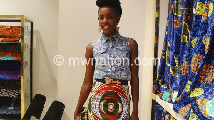 Malawian designer at  Ecowas Fashion Week