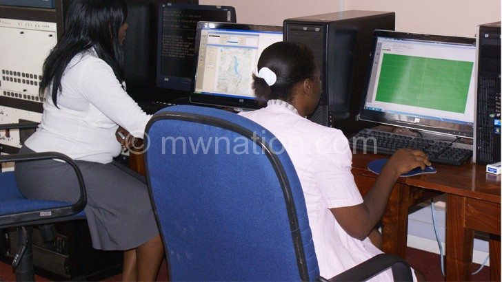 Malawians use computers for communication and other services