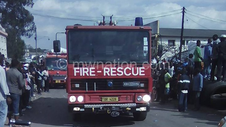 Fire guts Ask Beverages Warehouse in Limbe