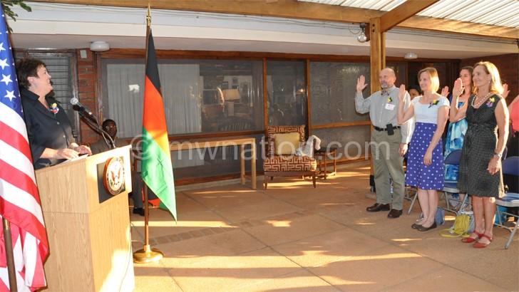 US ambassador swears in GHSP volunteers
