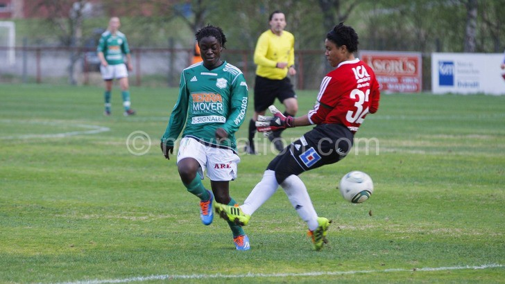 Keeping the goals flowing: Chawinga (L)