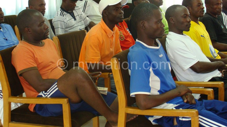 Flashback: Coaches during the April CAF a Licence course