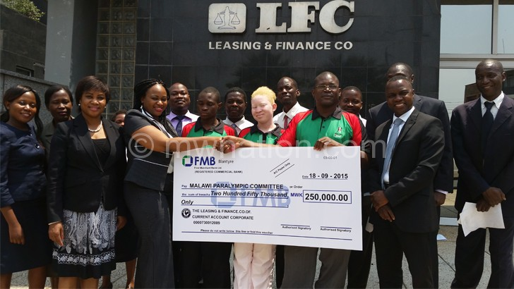 Leasing and Finance bails out Malawi Paralympics