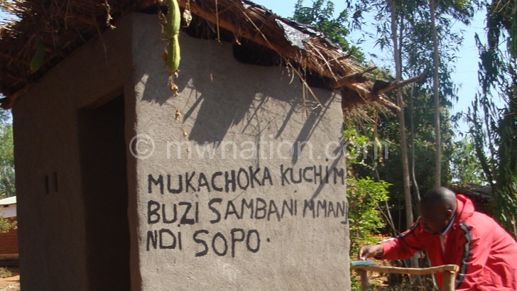 Mzimba people are being encouraged to construct  toilets such as these