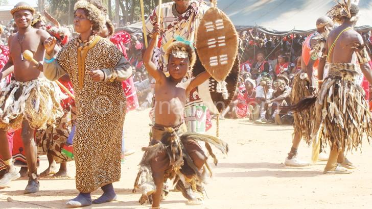 Ngoni boy dance ingoma at Umhlangano
