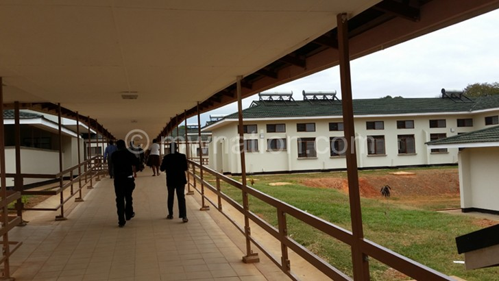 Part of the new Nkhata Bay District Hospital