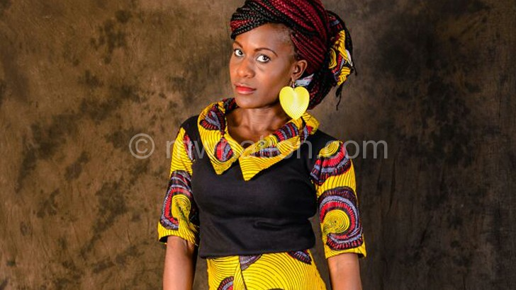 A model showcases a Made in Mzuzu design  that will be on show