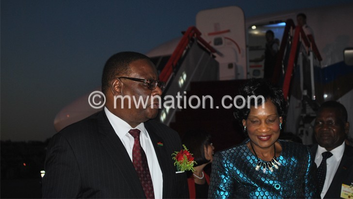 Mutharika commences  five-day China visit