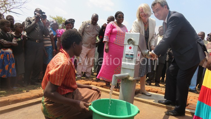 Japan, Ireland commission 13 boreholes in Ntcheu