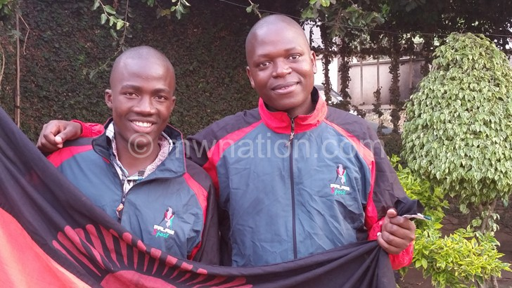 Banda (L) and Nkhoma leave  for Russia today