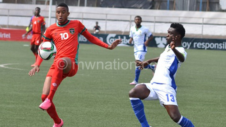 Flames in action against Zimbabwe in a 2017 Afcon qualifier earlier this year