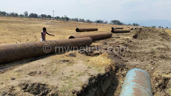 The stalled irrigation project in Mangochi