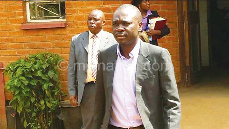 Convicted: Chirwa leaving court after pleading guilty yesterday