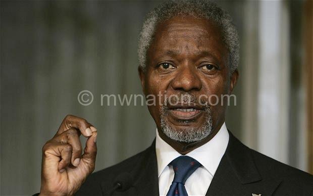 The former United Nations General Secretary, Kofi Annan
