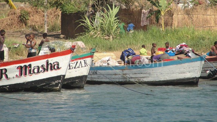 When the boat comes in … waiting for the MV Illala on the shore of Lake Malawi