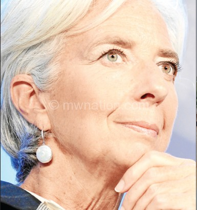 Wrote govenment: Lagarde