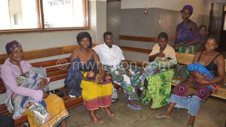 Women at Mchinji Distrct Hospital