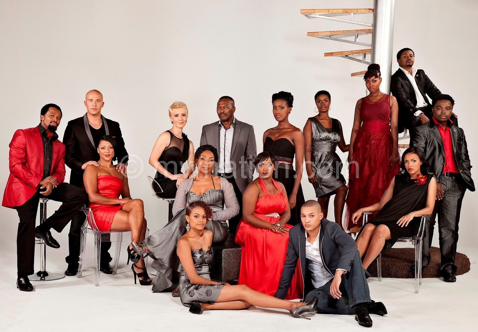 Some cast members of one of the programmes, Scandle