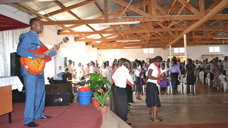 Reverend Chimwemwe Mhango at his Kanengo Congregation