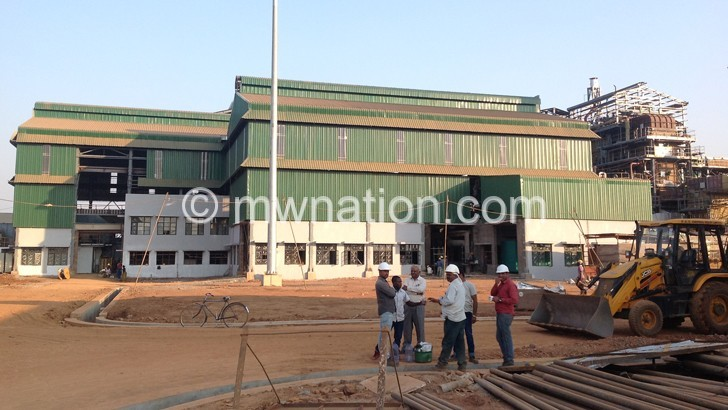 The sugar processing factory in Salima is expected to be completed end October
