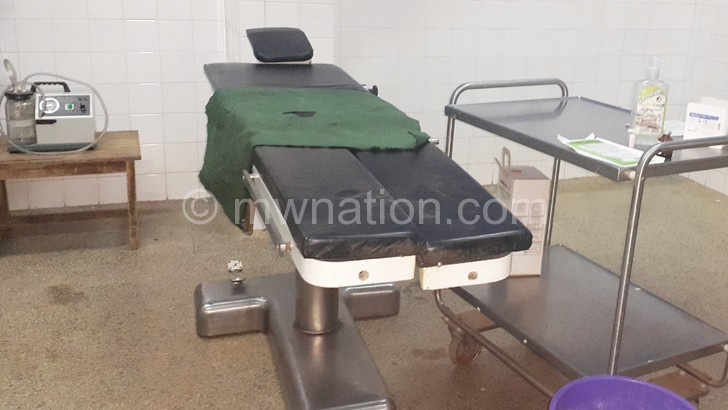The operating table now only used for voluntary male circumcision