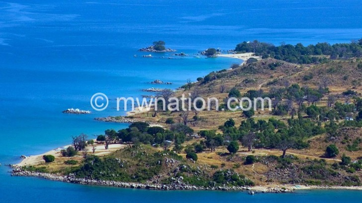 View of Likoma Island: One of the districts affected by recent demarcations